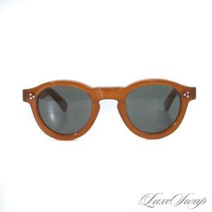#1 MENSWEAR LNIB Lesca France Honey Maple Gaston MODERN Sunglasses Shades NR
