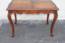 Lovely French Provincial Style American Made Walnut Sofa Center Table