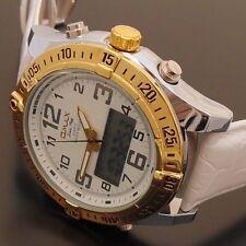 Polierte Armbanduhren aus Kunstleder mit 24-Stunden-Zifferblatt
