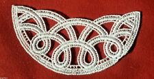 Applikation Ornament Spitzenbesatz Dekoltee WEISS Keltische Muster шнурок Lace