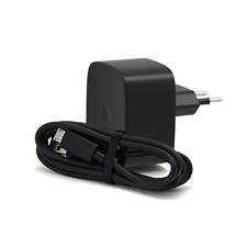 Cargador Motorola 1,5A  + Cable Micro USB Negro