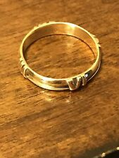 Tiffany & Co. 18k Gold Atlas Roman Numeral Ring Size 9.5. 4.9 Grams