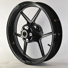 NEW GLOSS BLACK Front Wheel ZX6R 2005-2012 ZX10R 2006-2010 636 Rim 2008 2007 09