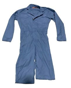 Red Kap Twill Action Back Coverall Chest Pockets Used Uniform