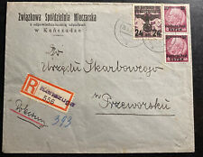 1940 Kanezuga GG Germany Commercial Registered Cover To Przeworsk