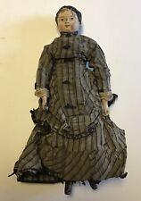 "RARE BEST ORIGINAL Antique JOEL ELLIS  Wood Doll 12"" Made in Springfield Vermont"