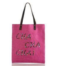 SHIRALEAH Juanita Tote Handbag Shopper Beach Bag  in Pink CHA CHA CHA ~ New
