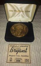 Kobe Bryant Solid Bronze Magnum series medallion #738 of 25k Highland Mint COA