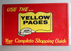 Vintage+USE+THE+YELLOW+PAGES+%26+Rotary+Princess+Phone+Sign+REFLECTIVE+heavy+steel
