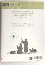 "Stampin Up! ""Every Blessing� Christmas Religious Verse Shepherd Star Retired Nip"