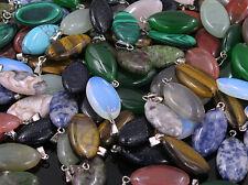 wholesale 100PCS natural stone pendants water drop pendant Charms for Necklaces