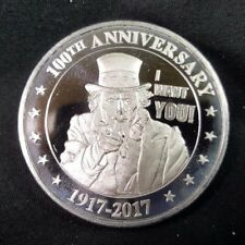 2017 Uncle Sam 100th Anniversary 1 Troy Ounce .999 Silver Bullion Round