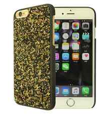 Black Gold Rock Made with Swarovski Crystals Bling Glitter Case Cover iPhone 7/8