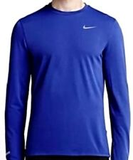 Nike sz M  Men's Dri Fit CONTOUR Long Sleeve Running Shirt NEW  874618 455 Blue