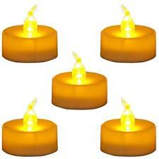 Flameless LED Tea Light Candles Amber Yellow Flickering Bulb 24pcs Decor Party
