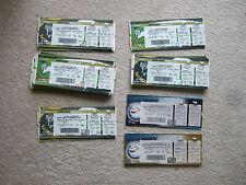 12 unused tickets derby v coventry 22/1/00 man bit upper