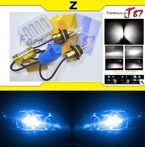 LED Kit Z 96W 9004 HB1 10000K Blue Head Light Two Bulbs Hi/Lo Dual Beam Replace