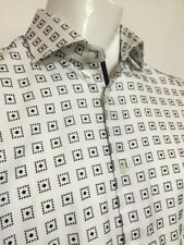 "Circle of Gentlemen 16""Collar  46 1/2""Chest  Cream Square Pattern Shirt RRP £139"