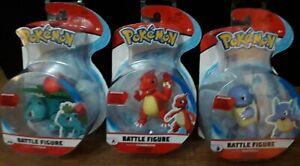 NEW SEALED 3 x Pokemon Battle Figure Packs ~ Charmeleon, Ivysaur & Wartortle