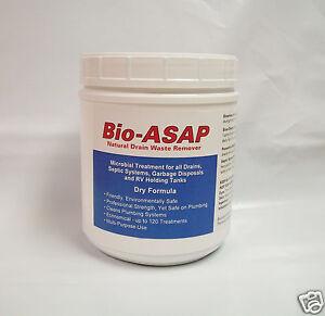 Bio-ASAP Drain Septic Bacteria, All Natural, 2lbs