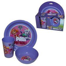 Girls Boys 3 piece Character Tableware Breakfast Dinner Set Plate Bowl Cup