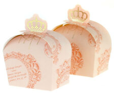50pcs Pink Crown Candy Gift Boxes Wedding Baby Shower Party Gift Favour Boxes