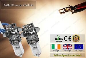 2x H3 453 Xenon Gas OEM 12v 55w Headlight Fog High Beam Halogen Bulbs For Car