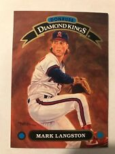 1992 Donruss Diamond Kings Mark Langston California Angels DK-20