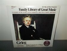 Grieg . Family Library Of Great Music # 7 . Piano Concerto Peer Gynt . Sealed LP