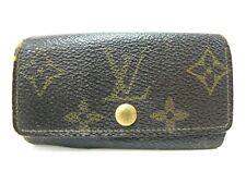 Authentic LOUIS VUITTON Monogram Multicles 4 Hooks Key Case M62631 Brown LV