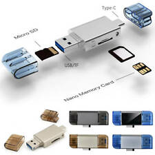 2 in 1 Huawei USB 3.0 Type C Card Reader Micro SD/NM Nano Memory Card Reader New