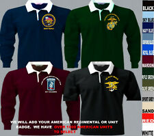 115 To 315 Us American Army Navy Air Force Marine Seals Short Sleeve Rugby Shirt