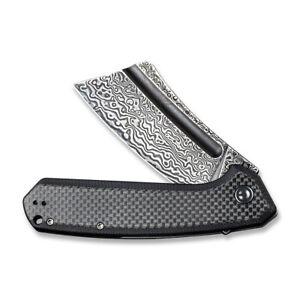 CIVIVI Bullmastiff Liner Lock C2006DS-1 Knife Damascus Carbon Fiber & Black G10