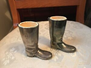 VINTAGE SILVER PLATED RIDING BOOTS