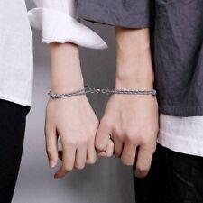 niumanery Titanium Steel Heart Lock Key Jewelry Set Bracelet Necklace Lover Couple Jewelry B