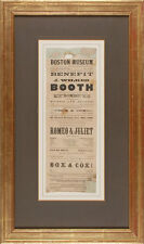 RARE John Wilkes Booth Vintage Antique 1863 Broadside Playbill Abraham Lincoln