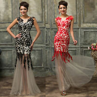 Long Formal Wedding Evening Party Dress Pageant Bridesmaid Masquerade Prom Gown