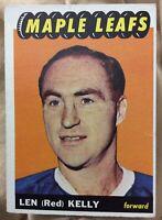 1965-66 Topps #15 Red Kelly HOF, Toronto Maple Leafs / Detroit Red Wings