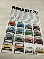 Renault gamme 76 R4 R5 R6 R12 R16 R15 R17 R30 Rodéo Berlinette Alpine catalogue