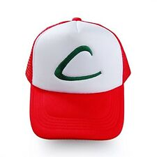 Hot Pokemon Pocket Monster Ash Ketchum Baseball Trainer Cap Cosplay Hats Costume