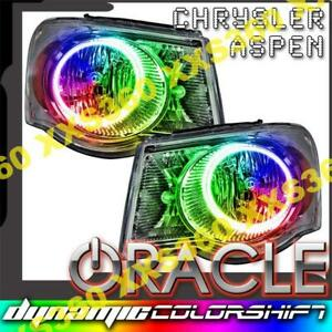ORACLE Halo 2x HEADLIGHTS Chrysler Aspen 07-09 COLORSHIFT SMD/LED DYNAMIC