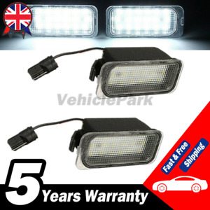 2 Licence Number Plate Light LED For Ford Fiesta Focus Mondeo C-Max Jaguar XJ XF