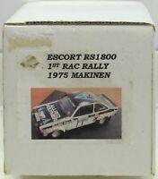 World Classics Ford Escort RS1800 RAC Makinen 1975 1/32 resin body