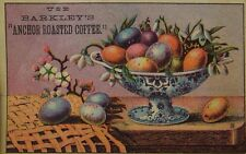 1870's-80's Barkley's Coffee Colored Easter Eggs & Flowers Image Fabulous! F97