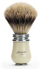 Punta de plata pelo de tejón brocha de afeitar para hombres nuevo aspecto clásico cepillo de calidad