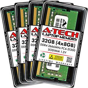 A-Tech 32GB Kit 4x 8GB PC4-21300 Laptop SODIMM DDR4 2666 MHz Non-ECC Memory RAM