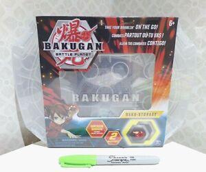 BNIB Bakugan Battle Planet clear STORAGE CASE + Gorthion & 2 Bukucores NEW