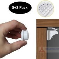 Invisible Magnetic Baby Child Pet Proof Cupboard Door Drawer Safety Locks (8+2)