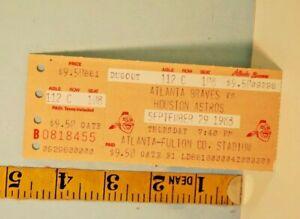 Sept. 29 1988 Atlanta Braves v Houston Astros Baseball Ticket Stub Mike Scott CY