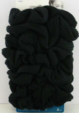 GOODY OUCHLESS MIXED TEXTURE KNIT HAIR SCRUNCHIES - BLACK - 8 PCS.  (37027)